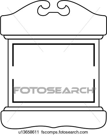 373x470 Clipart Of , Blank, Border, Fancy, Frame, Shield, Structure, Panel
