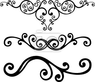 400x346 Fancy Scroll Clip Art