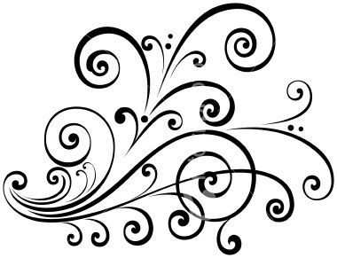 380x291 Scroll House Clipart Black And White