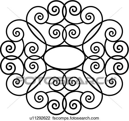 450x423 Clipart Of , Border, Fancy, Frame, Grill, Hearts, Iron, Ironwork