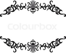 230x185 Fancy Scroll Border Designs Design Images