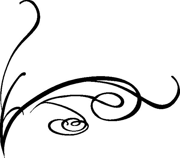 600x527 Swirly Line Clip Art
