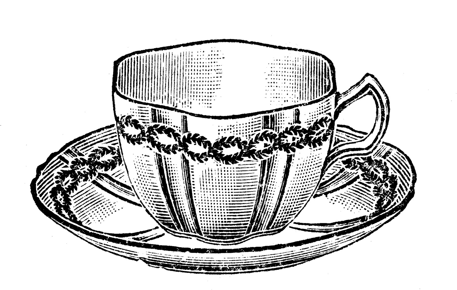 1600x1015 Tea Cup Clipart Old Fashioned