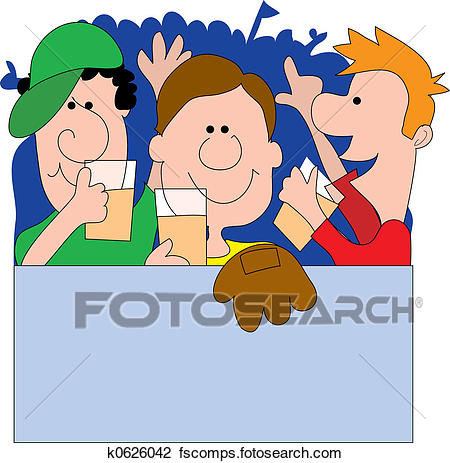 450x463 Clip Art Of Sports Fans K0626042