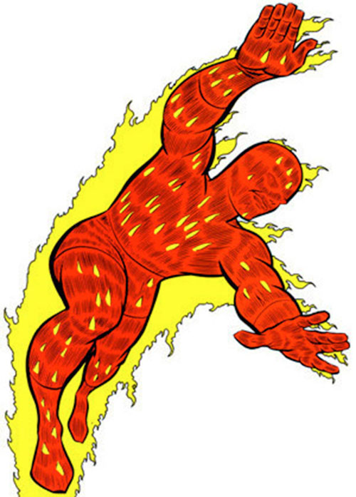 500x697 The Human Torch Fantastic Four Clip Art Cliparts