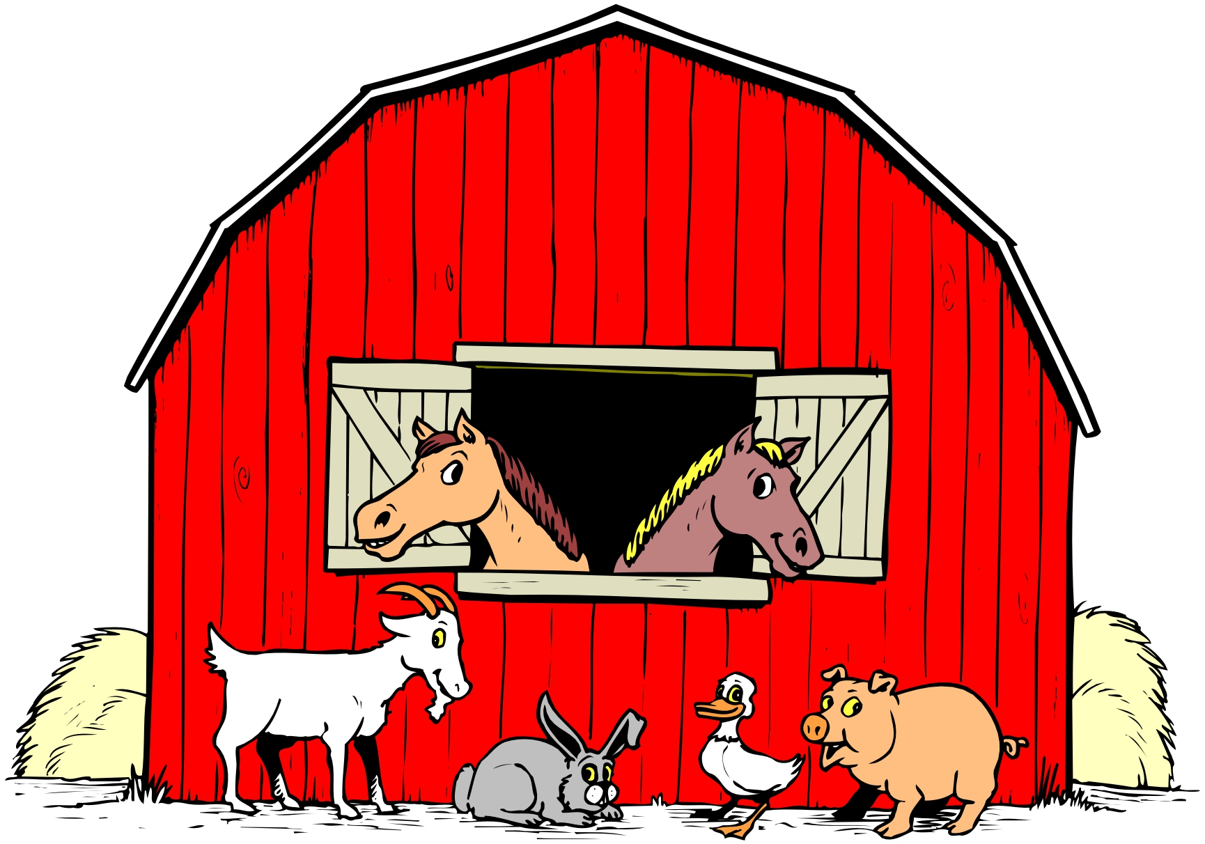1730x1212 Farm Animals Cartoon Clipart