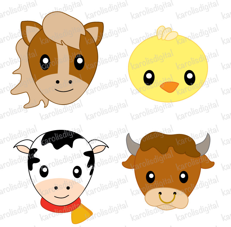 776x764 Farm Animals Faces