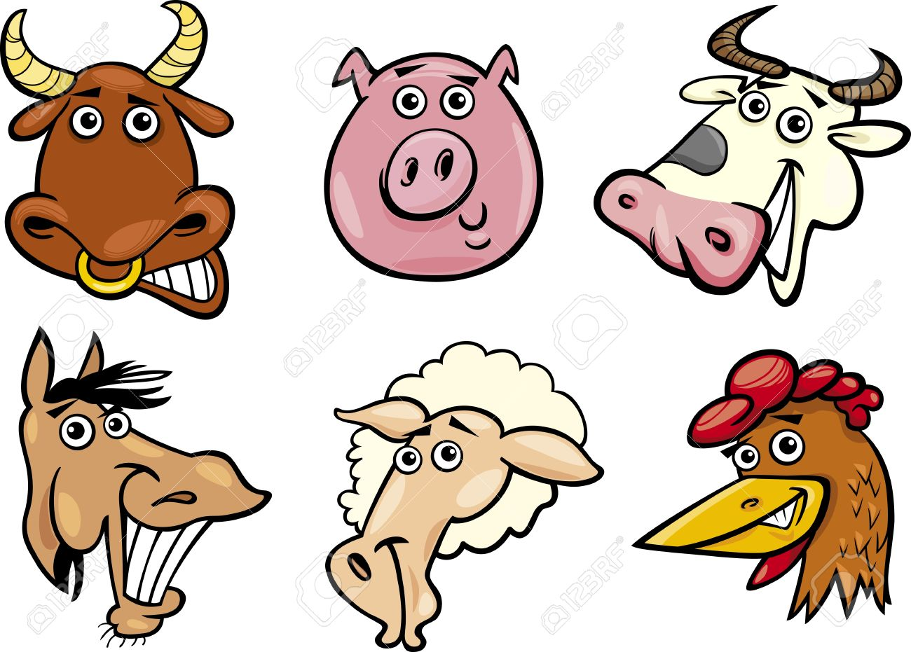 1300x931 Animal Clipart Funny Farm