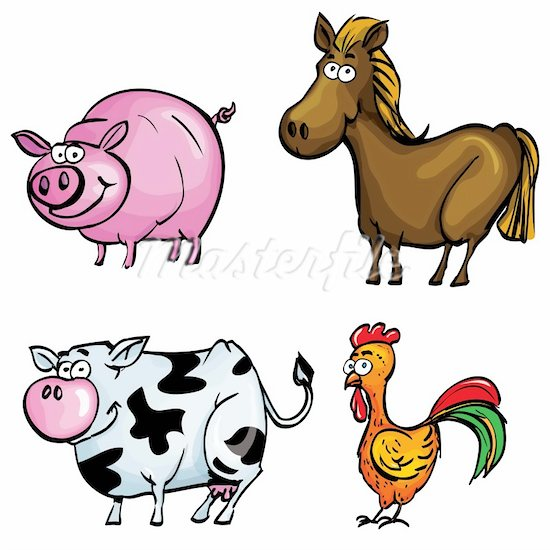 550x550 Farmer Farm Animals Clip Art