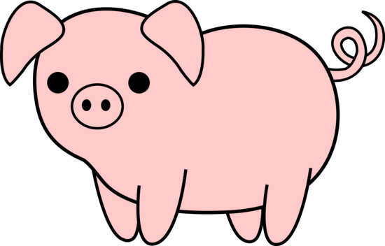 550x352 Animal Clipart Pig