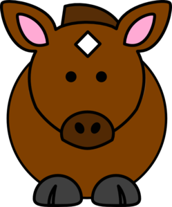 249x299 Cartoon Horse Clip Art