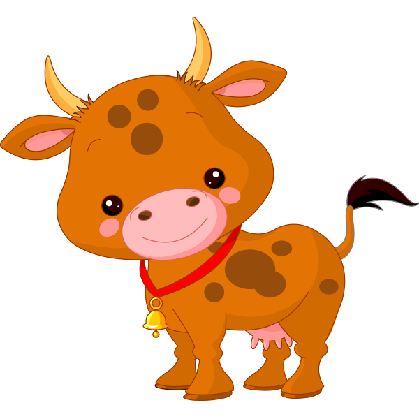 600x600 Cute Little Cow Cow, Clip Art And Patterns