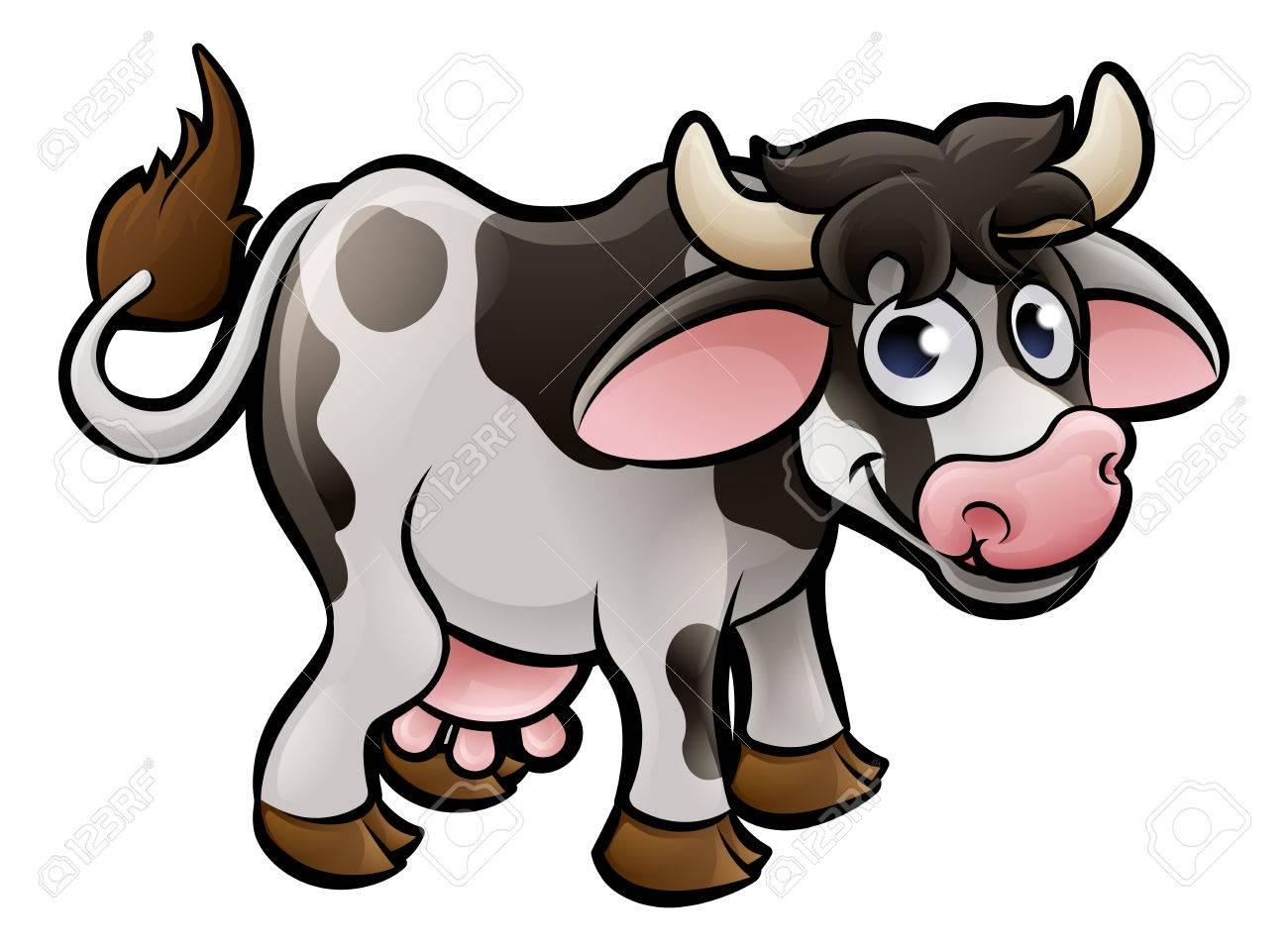 1300x960 A Cow Farm Animals Cartoon Character Royalty Free Cliparts