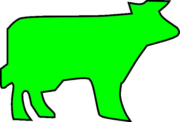 600x407 Farm Animal Outline Clip Art Free Vector 4vector
