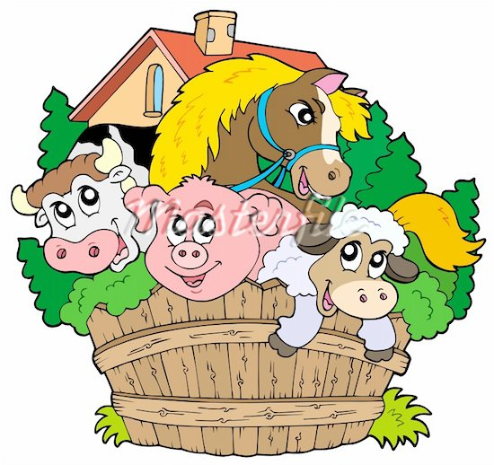 550x518 Free Farm Animal Clipart