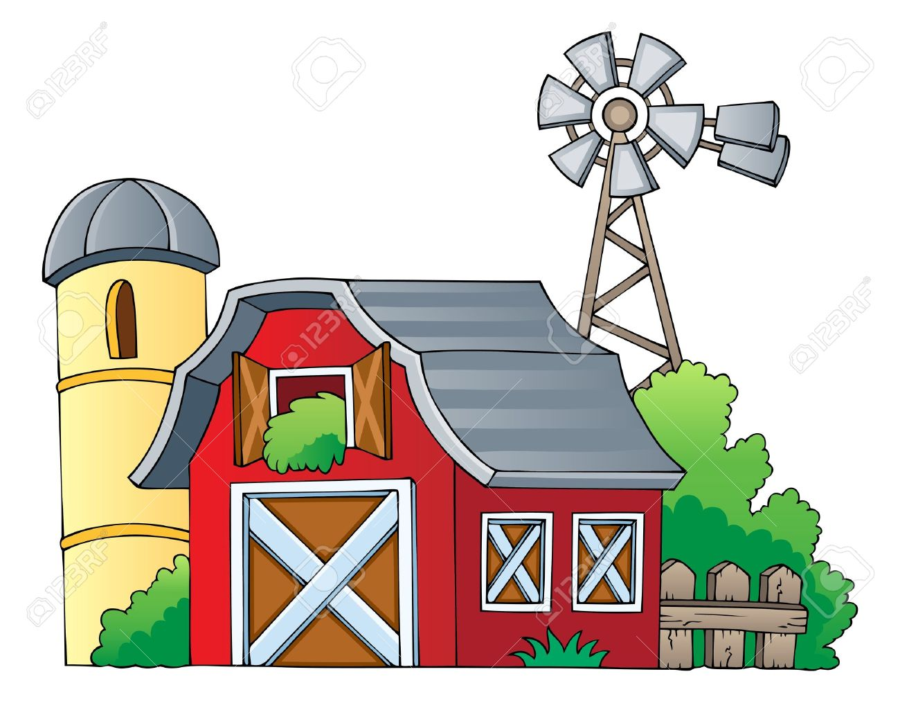 1300x1013 Farm Clipart Farmhouse