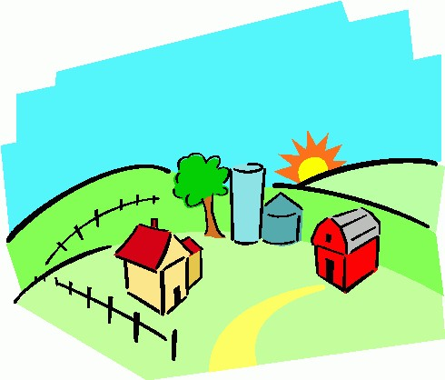 490x418 Farm Clip Art Clipart