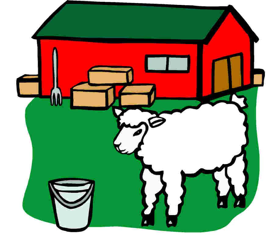 875x768 Farm Clipart Sheep