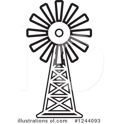 400x420 Farm Windmill Clipart