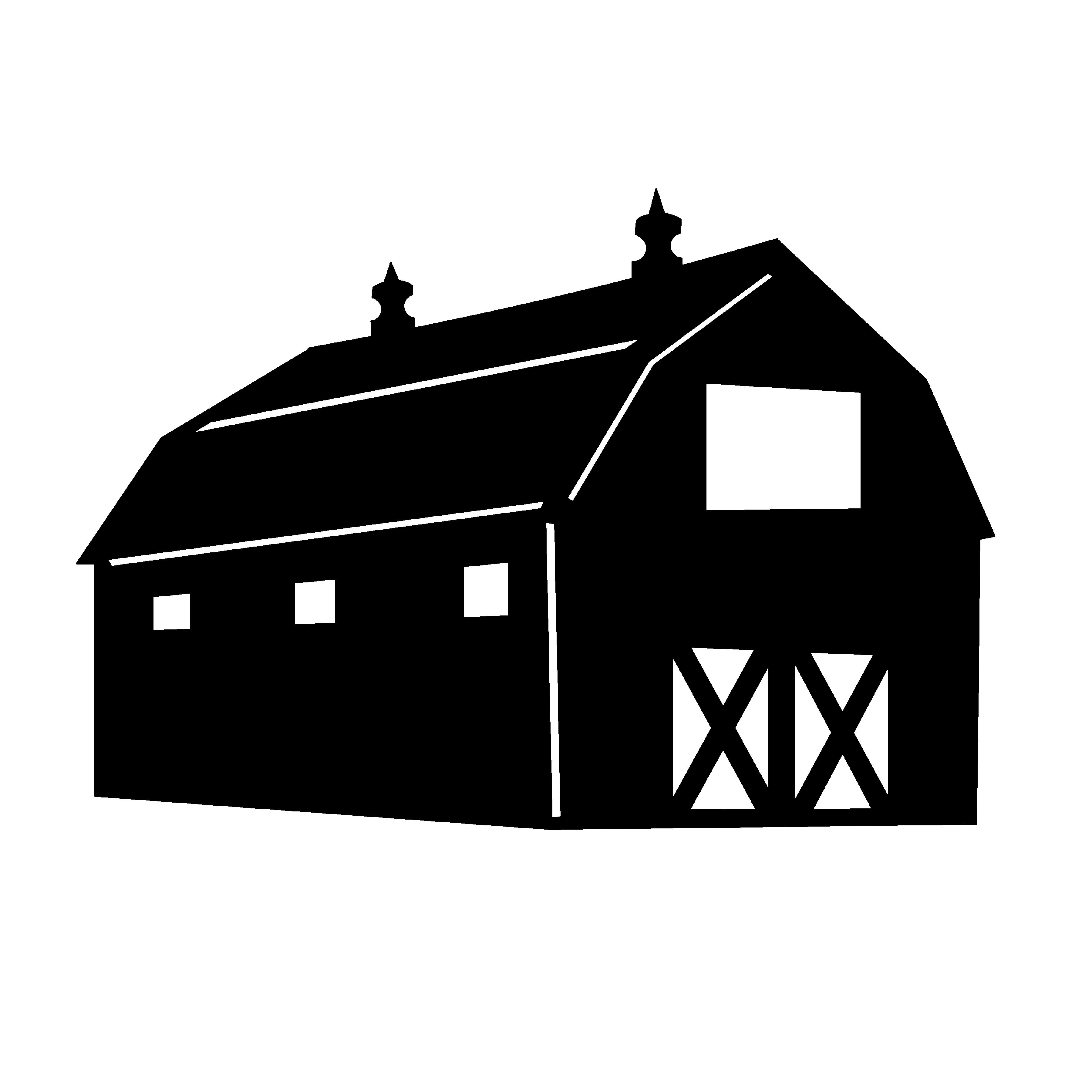 3600x3600 Farm Clipart Silhouette