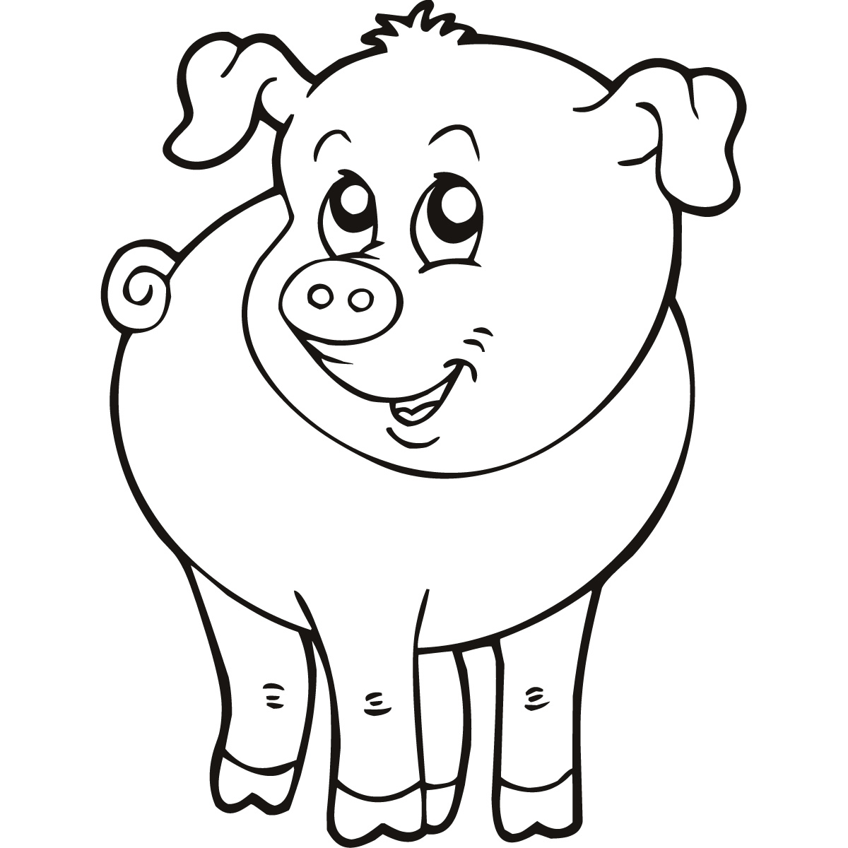1200x1200 Free Clipart Farm Animals Black And White