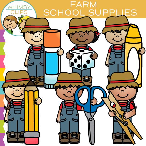 600x600 Farm Kids School Supplies Clip Art , Images Amp Illustrations