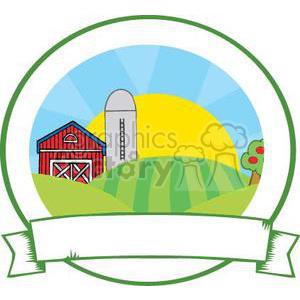 300x300 Royalty Free Family Farm Sign 380870 Vector Clip Art Image