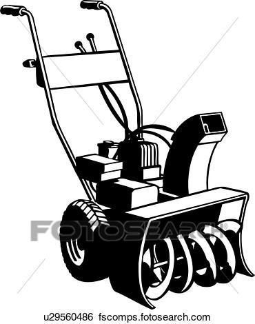 370x470 Clip Art Of , Equipment, Snowblower, Trade, U29560486