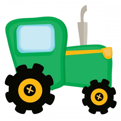 500x500 Clipart Tractor Many Interesting Cliparts