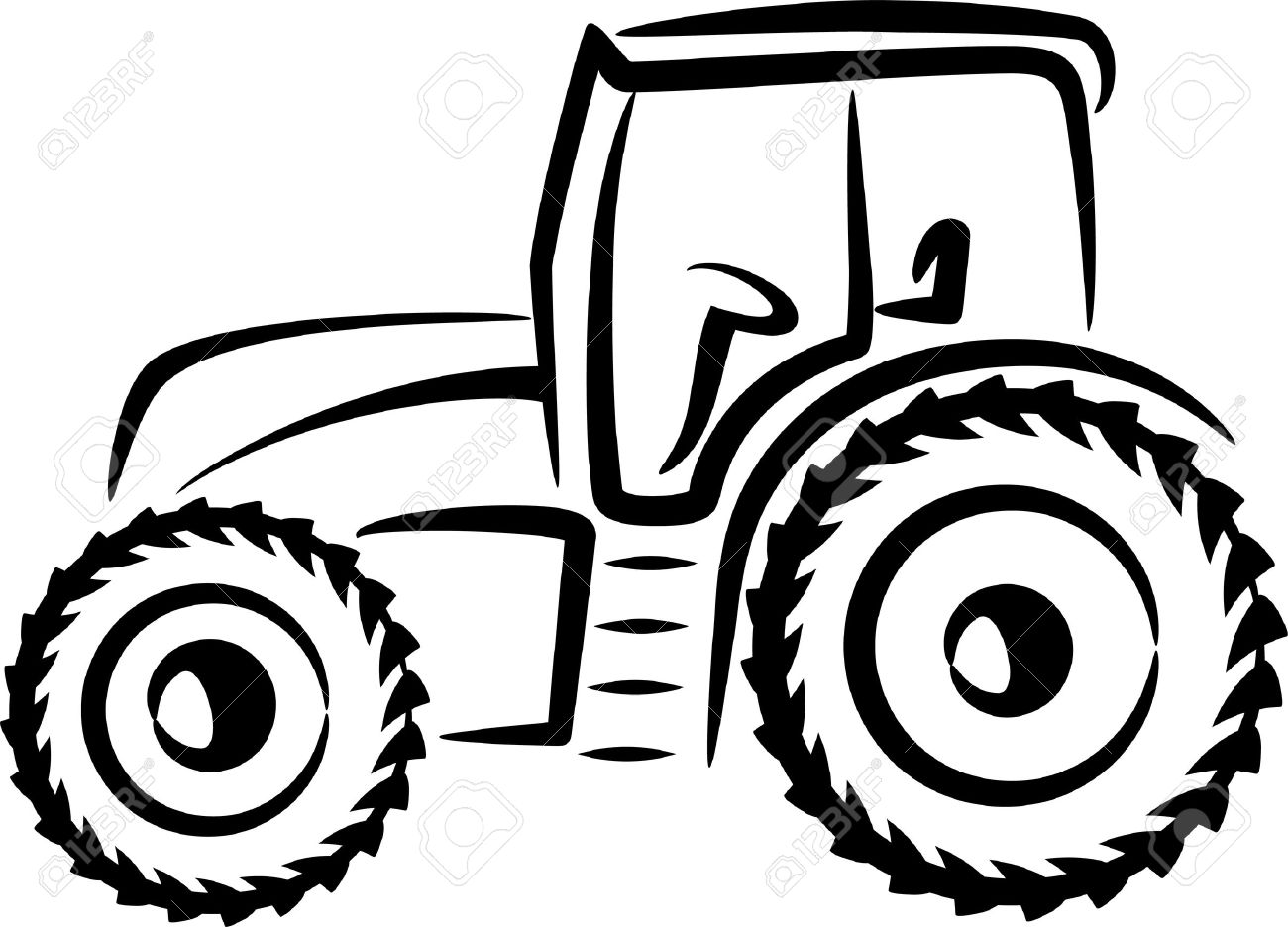 1300x936 Simple Illustration With A Tractor Royalty Free Cliparts, Vectors