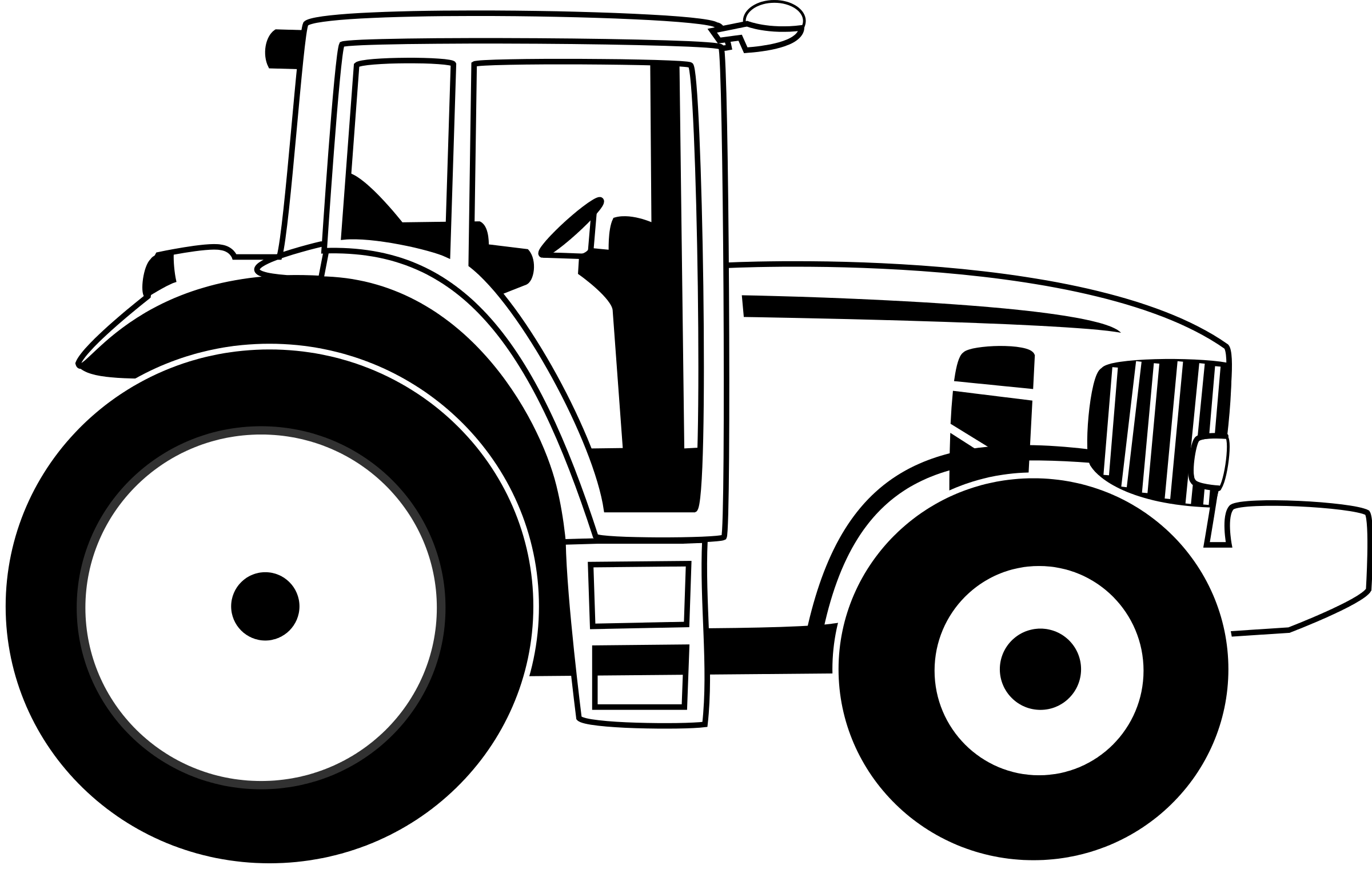 2400x1520 Tractor Clipart Image