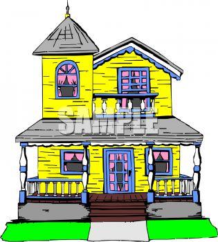 315x350 Farm House Clipart