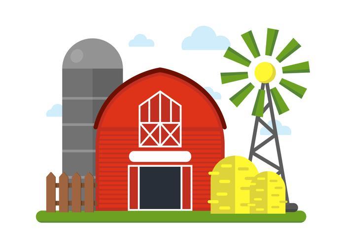 700x490 Farm Vector Illustration