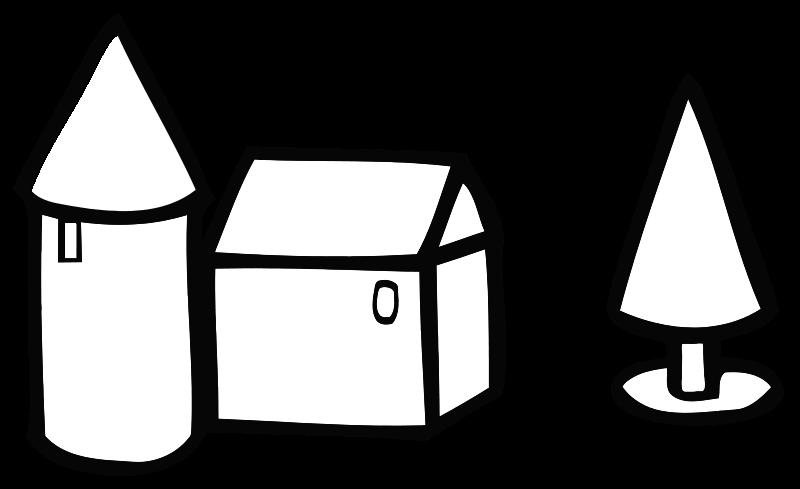 800x489 Free Clipart Simple Farm House