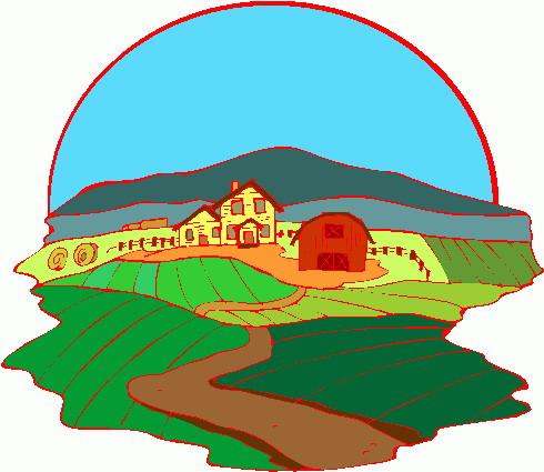 490x425 Free Clip Art Farm House