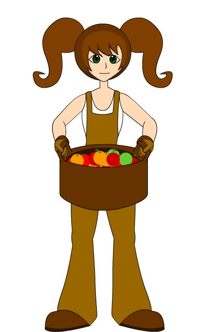 403x674 Free Girl Farmer Clip Art