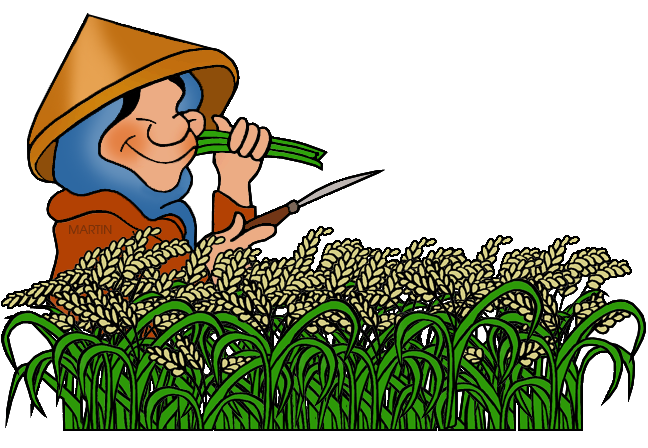 648x448 Occupations Clip Art By Phillip Martin, Rice Farmer