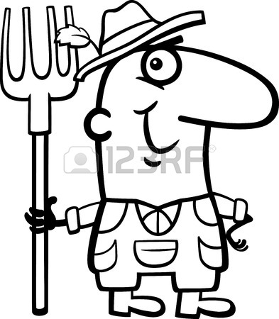 393x450 Black And White Cartoon Illustration Of Funny Structural Engineer