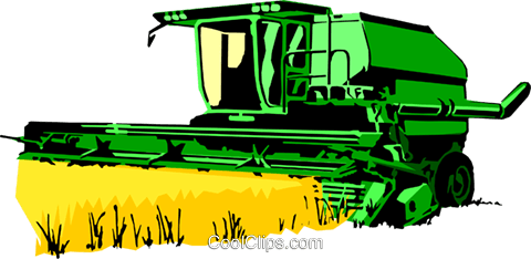480x234 Farm Combine Royalty Free Vector Clip Art Illustration Indu0414