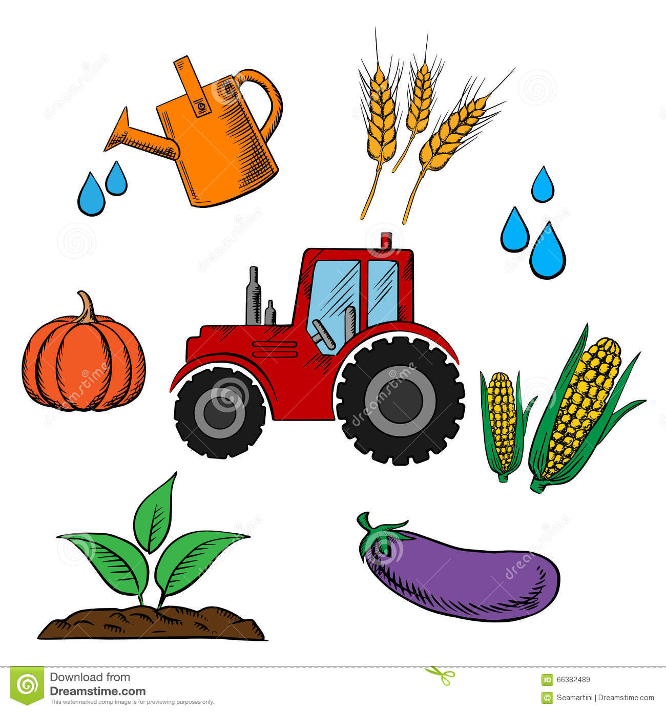 1300x1390 Tractor Clipart Farming Industry