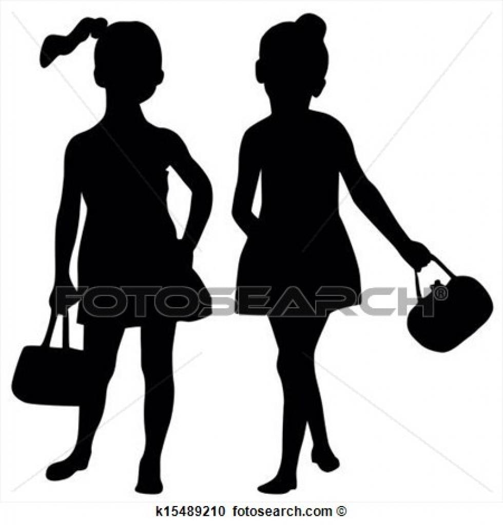 980x1024 Clipart Of Fashion Kids K15489210 Search Clip Art Illustration