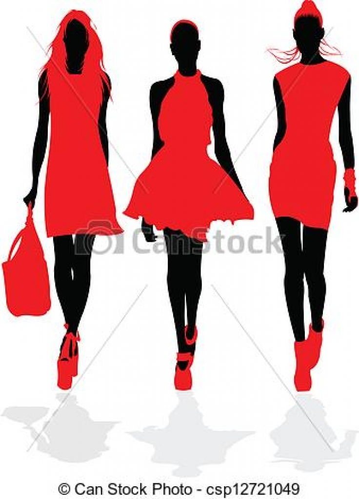 736x1024 Graphics For Fashion Show Clip Art Graphics
