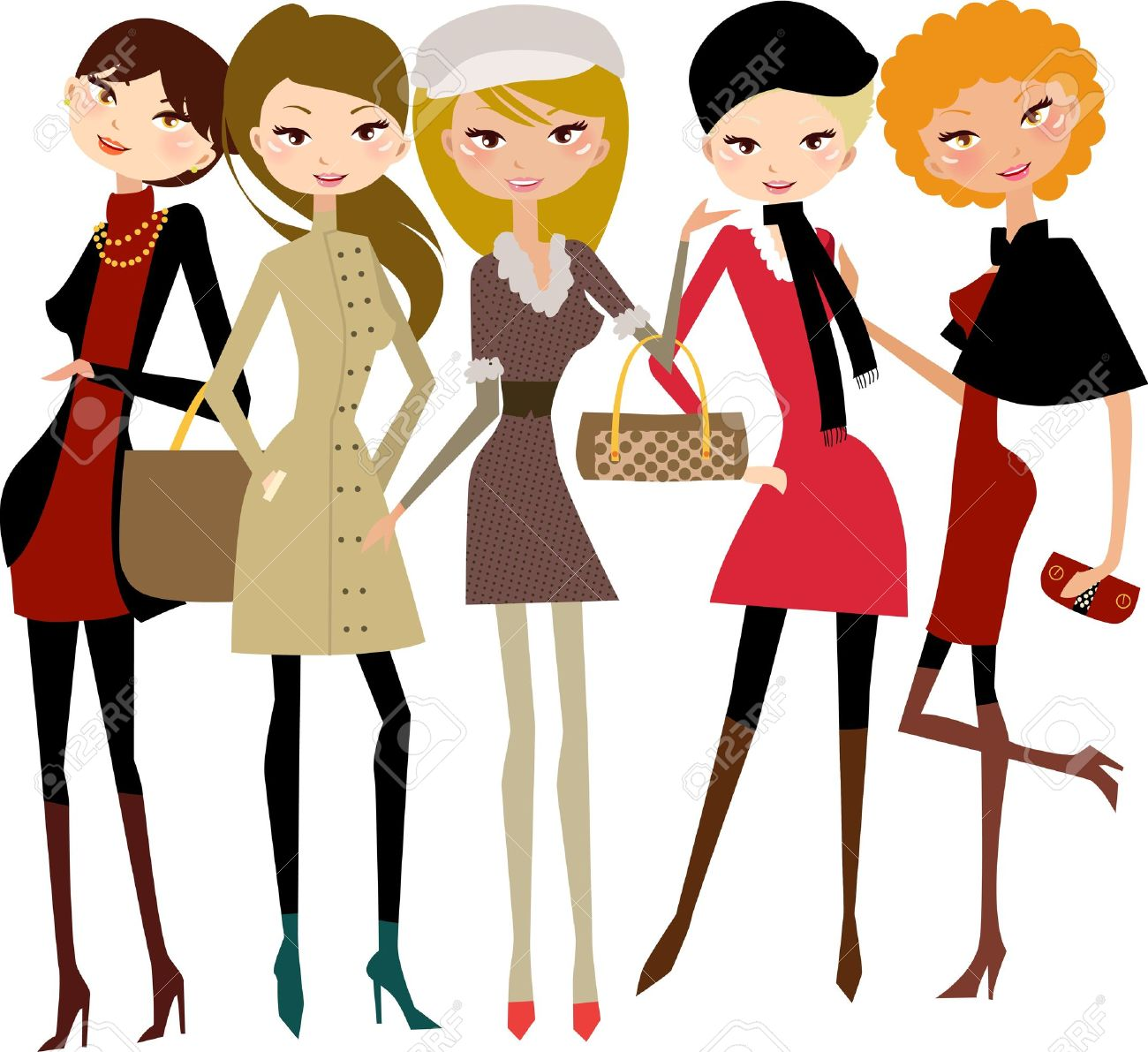 1300x1191 Ladies Fashion Royalty Free Cliparts, Vectors, And Stock