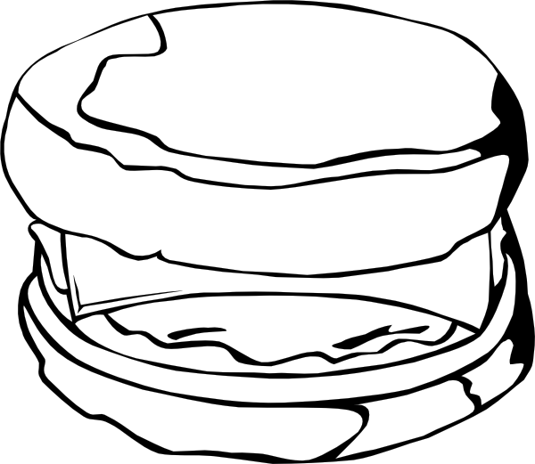 600x521 Fast Food Breakfast Egg And Cheese Biscuit Clip Art