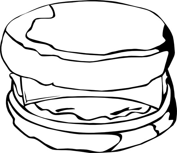 600x521 Fast Food Breakfast Egg And Cheese Biscuit Clip Art Free Vector