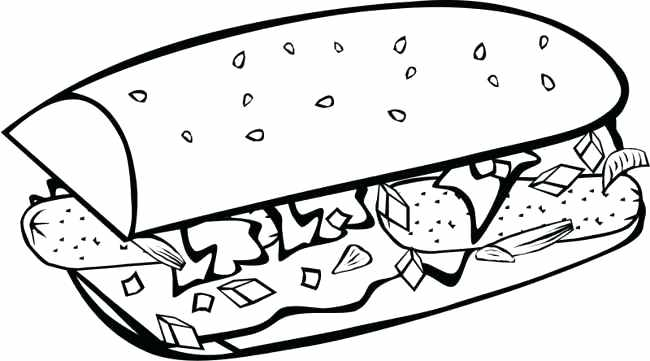 650x361 Food Clipart Free Download Fast Food Coloring Pages