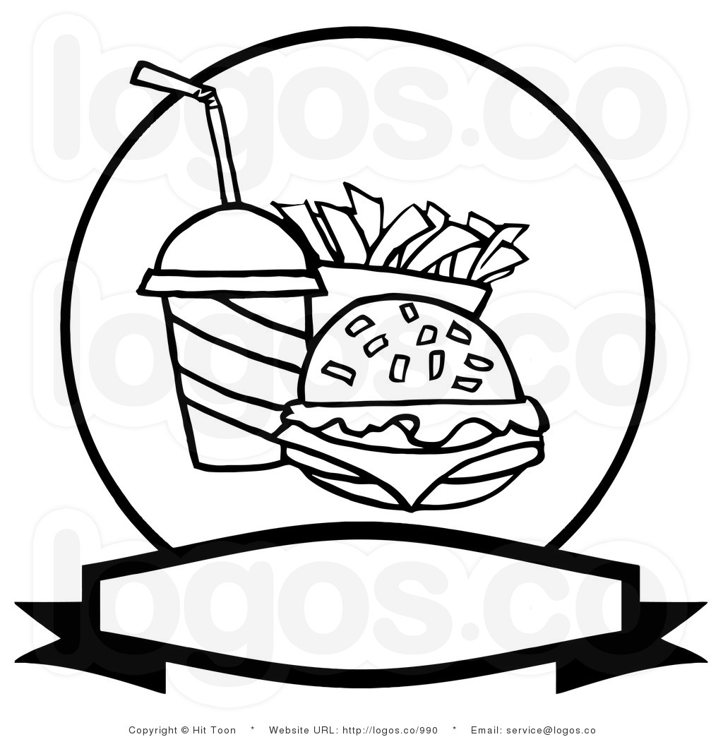 1024x1044 Pics Photos Fast Food Clipart Image Black And White