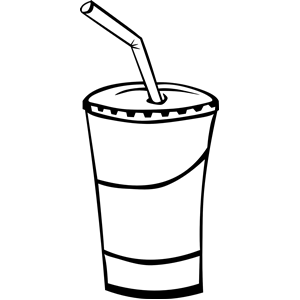 300x300 Food And Drink Clipart Black And White