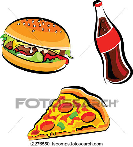 425x470 Clipart Of Fast Food K2276550