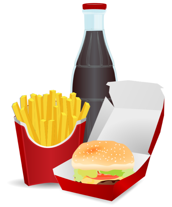 583x700 Fast Food Clipart Pizza, Burgers, Hot Dogs Amp Fries